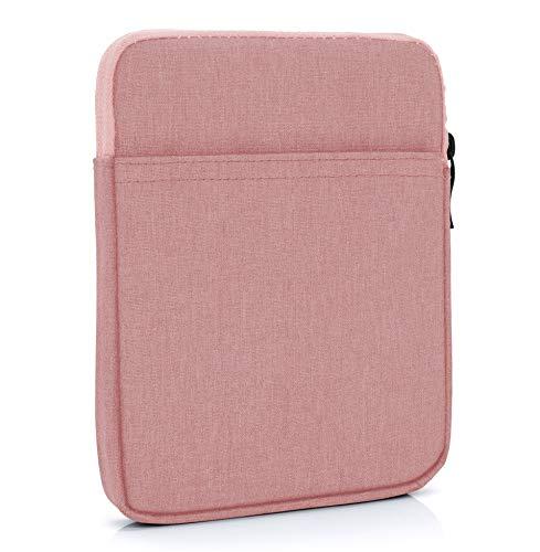 "MyGadget 6 Zoll Nylon Sleeve Hülle - Schutzhülle Tasche 6\"" für eBook Reader/Smartphone/Navi z.B. Kindle Paperwhite, Apple iPhone XS X 8 Plus - Rosa"