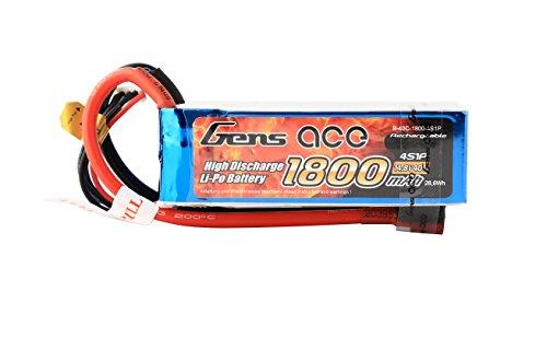 Gens ace LiPo Batterie 1800mAh 14.8V 40C 4S pour Passe-Temps RC Toys RC Car RC Hélicoptères RC Avion RC Bateau RC Truck