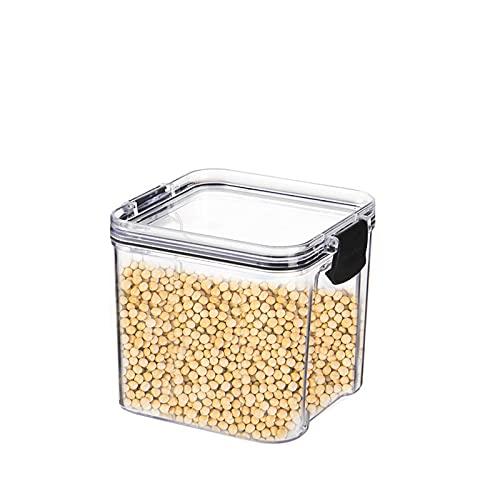 Huacy - Tarros de almacenamiento para cereales, 700 ml, sin BPA, de plástico, herméticos, con tapa para guardar pasta, cereales, arroz, harina y alimentos para mascotas, varios usos