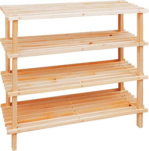 Rack de Zapatos de Madera de bambú/de Entrada Organizador/Rack de Ahorro de Espacio Multifuncional-4 Nivel
