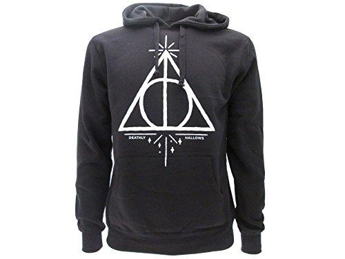 Harry Potter Felpa con Cappuccio Doni della Morte Deathly Hallows - Ufficiale Warner Bros (S Small)