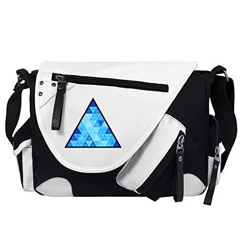 Detroit Become Human Zaini Casual Multistrato di disegno d'avanguardia Sport & Outdoor Zaini Borsa da viaggio di marea Shoulder Bags unisex (Color : White03, Size : 34 X 26 X 10cm)
