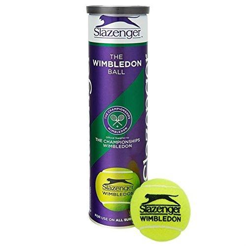 Slazenger Wimbledon Official Tennis Balls- 6 Tubes 24 Balls Special Offer - by Slazenger