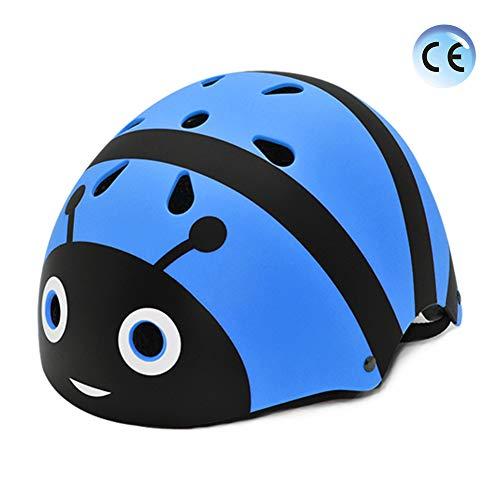 YGJT Helm für Kinder 2 Jahre - 12 Jahre alt Leichter Fahrradhelm Kinder Cartoon 3D Form Multi-Sport Sicherheit Sportartikel Mädchen Jungen (Blaue Biene, (Circ.) 54-58 cm für 6 bis 12 Jahren)