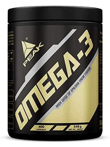 PEAK OMEGA 3 | 400 SOFTGEL-Kapseln | Fischöl | Hochkonzentriert | Essentielle Fettsäuren