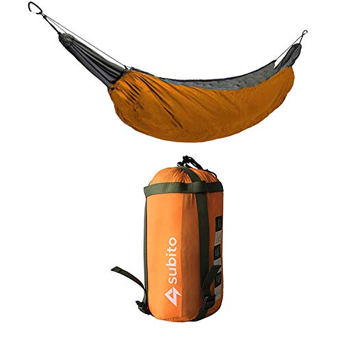 DYJM-OrSt hamac Suspendu,Hamac de Camping et de Loisirs en Plein air, hamac d'hiver avec Couverture Chaude, hamac en Coton Isolant Coupe-Vent et Isolant Chaud - Orange