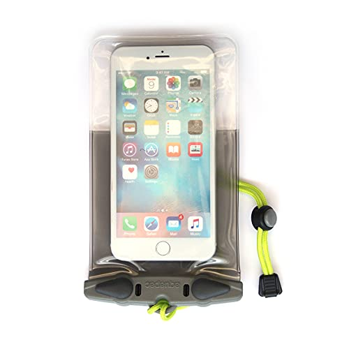 AQUAPAC Smartphone-Tasche Wasserdicht iPhone 6 Plus Hülle, Grau/Transparent, 20.5 x 11.5 x 2.0 cm, 0.01 Liter, 358