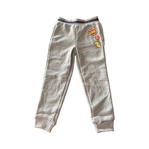 Samoja Kids Jogginghose Feuerwehrmann Sam – Trainingshose Jungen aus Molton – offizielles Lizenzprodukt – Farbe Grau – Größe 4 Jahre