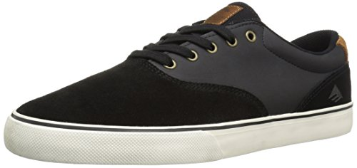 Emerica Mens Footwear Emerica Provost Slim Vulc Skate Shoe,Black/Brown,11.5 M US