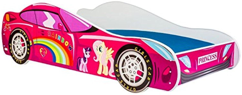 Kinderbett bett auto PONNY CAR Gre 160x80 cm mit einer Matratze