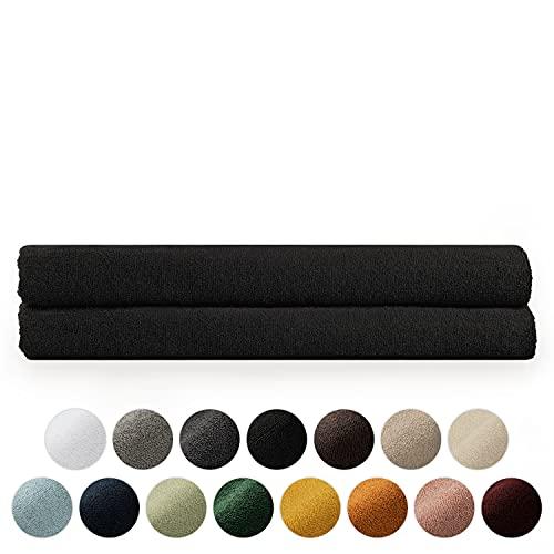 Blumtal Set de 2 Toallas de Baño (80x200cm) - Toallas Suaves y Absorebentes, 100% algodón, Certificado Oeko-Tex 100, Negro