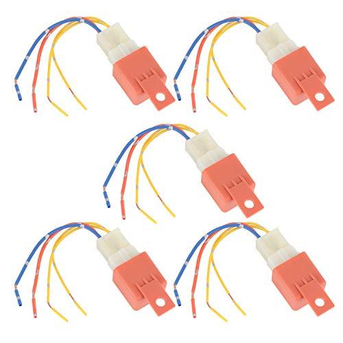 Qqmora Relé de Aire Acondicionado automático para Coche, relé de Aire Acondicionado, 5 uds, 12 V, 4 Pines, retardo para Accesorios de Coche para Piezas de Repuesto