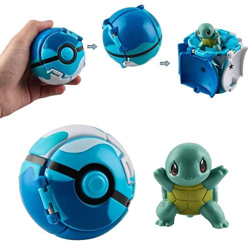 Esportic Pokémon Ball, Pokemon, Pokeball mit Figur, Pokeball, Pokemon bälle zum werfen, Erwachsene und Kinder Erwachsene Party Feier Spaß Spielzeug Spiel