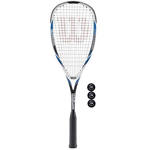 Wilson Hyper Hammer 120 Squashschläger + 3 Squashbälle