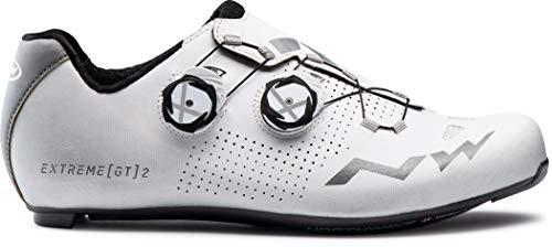 Northwave Extreme GT 2 Rennrad Fahrrad Schuhe weiß/silberfarben Reflective 2021: Größe: 44.5