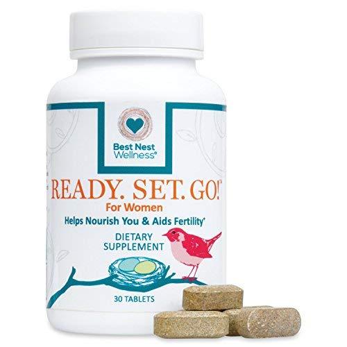 Ready. Set. Go! Fertility Goal Prenatal Multivitamin for Women, Methylfolate (Folic Acid), Whole Food Herbal Fertility Blend, Immune Support, 30 Ct, Best Nest Wellness