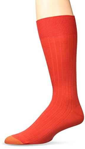 Gold Toe Men's Patterned Fashion Dress Socks, 1 Pair, Rayon Rib Crew 1, Shoe Size: 6-12.5