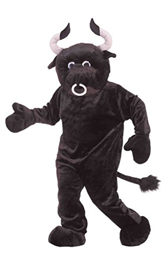 Forum Novelties costumes Deluxe Plush Bull Costume Party Supplies, Black, One Size US