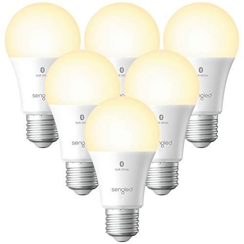 Sengled Smart Light Bulbs, Alexa Light Bulb Bluetooth Mesh, Smart Bulbs That Work with Alexa Only, Dimmable LED Bulb E26 A19, 60W Equivalent Soft White 800LM, High CRI, High Brightness, 6 Pack