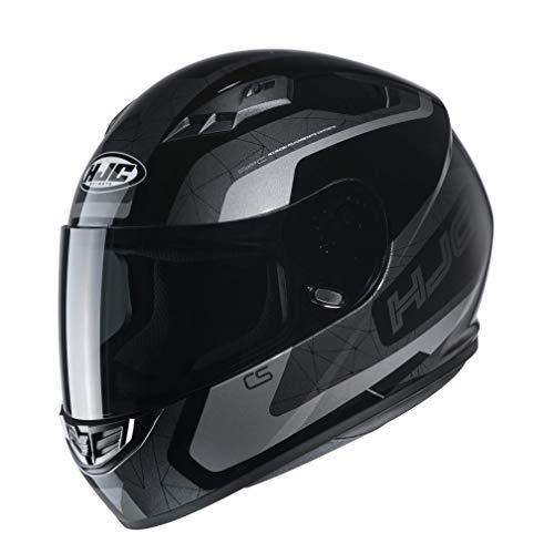 HJC Helmets Herren Nc Motorrad Helm, Schwarz/Grau, M