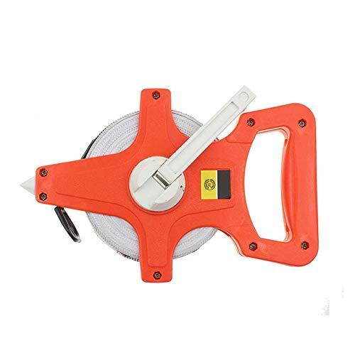 Peanutaor Règle Pratique en Plastique pour Ordinateur Portable Règle épaissie pour Usage Durable Règle Cousue à la Main Règle en Fibre de Verre - Orange et Blanc - 50m