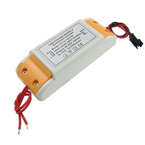 DealMux - Transformador para tiras LED (18 x 1 W, CA 110-220 V a CC 30-60 V)