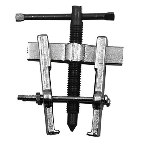 YUIO® 65mm Zwei-Backen-Abzieherlager-Ausbauwerkzeug Zwei-Backen-Lager Zahnrad-Abzieher-Auszieher Installationsentferner Handwerkzeug-Kit für Auto (Schwarz-Silber)