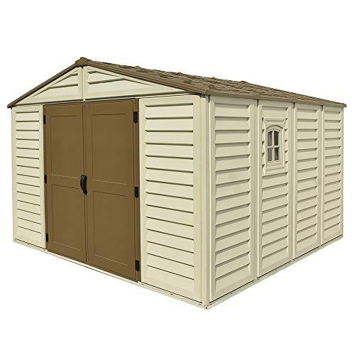 casetta da Giardino in PVC WoodBrige Plus 325 x 319 cm Colore Beige e Marrone