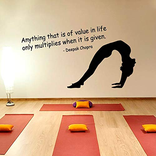 The Girl Bend Over Decal AnyThing That Is Of Value In Life Only Multiplies When It Is Given Art Mural Wall Sticker 79x142cm