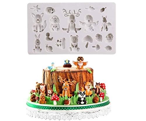 Joinor Sugarcraft Safari Animal Silicone Fondant Molds Cake Decorating Tools Chocolate Mold Clay Mold