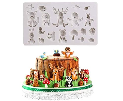 Joinor Sugarcraft Safari Animal Silicone Fondant Molds Cake Decorating Tools Chocolate Mold Clay Mold