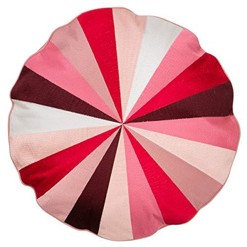 Bungalow - Kissen, Statement Kissen, Zierkissen - Circus - Farbe: Melrose - Ø: 45 cm - mit Füllung