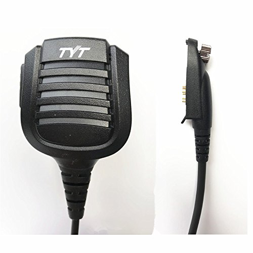 Original TYT Remote Hand/Shoulder Speaker Mic Microphone for Digital DMR Dual Band Radio TYT MD-2017/ MD-398 IP67 Waterproof Two Way Radio, for RT82/ RT83 /RT87 / V-2017