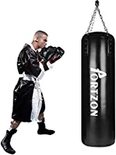 Portzon Punching Bag Set Boxing Training MMA Heavy Bags with Punch Gloves Chain Ceiling Hooker 5 Piece Indoor Sports Sets,45 Lbs