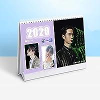 2020 Xiao Zhan Wang Yibo Star Character Calendar Chen Qing Ling Desk Calendars Daily Schedule Planner 2020.01-2020.12