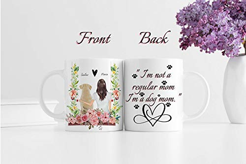 Custom Pet Mom Gift, Personalized Name Gift For Mom Of Dogs, Custom Cat Mug, Custom Frenchie Mug Dog Gifts Coffee Mug, Dog Lover, Best Dog Mom Ever 11oz