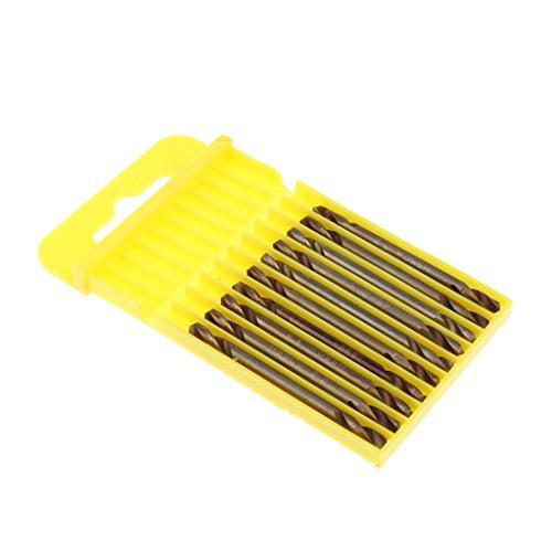 10 Stücke 3.2mm Bohrer Set Doppelseitige Spiralbohrer HSS Bohrerspitze für Bohren, elektronische Montage, Werkzeugbau, Schmuckgravur