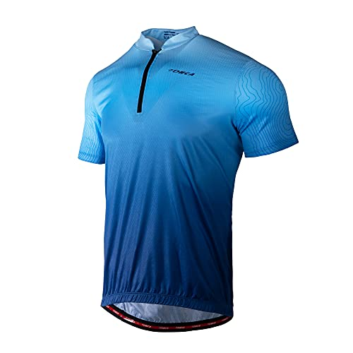 Lohca Men's Cycling Jersey MTB Jersey Short Sleeve Quick Dry with 4 Back...