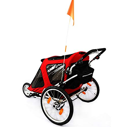 Sale!! Child Bike Trailer Double Seat Foldable Tow Behind Bike Trailers,Featuring 2-in-1 Canopy and ...