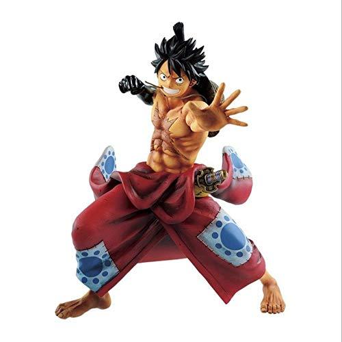 QINGLI One Piece Rufy Action Figure 21cm-Kimono Luffy-Statua La Decorazione di Modello Anime Character Bambini Bambola Souvenir Collection O Un Carattere Lover Luffy