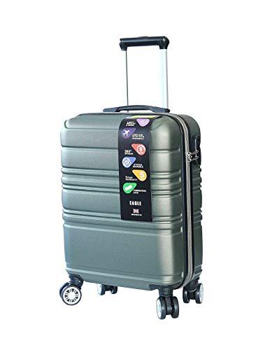 RyanAir, EasyJet, British Airways - Maleta de mano con ruedas para equipaje de mano (ABS), diseño de cabina