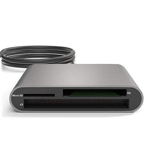 KabelDirekt Lettore di Carte USB 3.0, (per SDXC, SDHC, SD, MMC, MMCplus, microSDXC, microSDHC, microSD, CF Tipo I, Microdrive), PRO Series