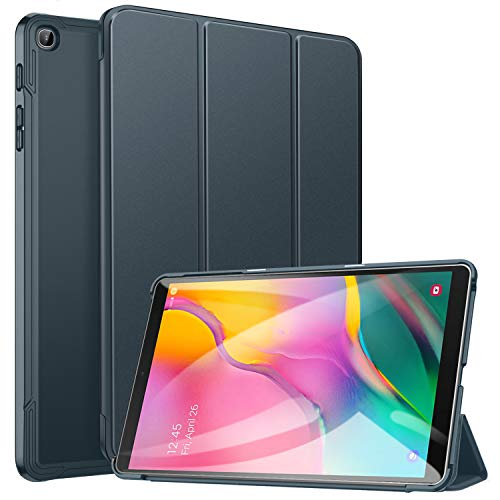 Ztotop Case for Samsung Galaxy Tab A 10.1 2019, Ultra Slim Lightweight Trifold Stand Smart Folio Case Hard Cover for Samsung Tab A 10.1 Inch Tablet SM-T510/SM-T515 2019 Release - Grey