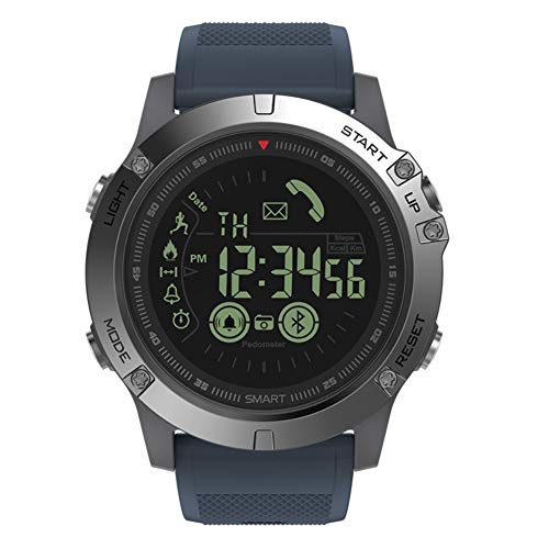 aaerp T1 Tact Watch Smartwatch, sehr robust, Militärqualität, für Männer und Frauen, Frauen Herren, Marineblau, 26cm