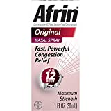 Afrin 12 Hour Decongestant Nasal Spray, Original, 1-Ounce