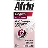 Afrin Afrin Nasal Decongestant 12 Hour Relief Spray Original, Original 1 oz (Pack of 3)