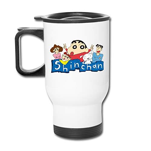 Jldoenh Udjgn Crayon Shin-Chan - Taza de café aislada, a prueba de fugas, acero inoxidable, unisex, para oficina, viajes, casa