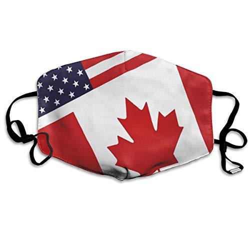 Gezichtsmaskers Canadees en Amerika vlagpatroon sportmasker anti-stof-bescherming glimlachende maskers wasbaar herbruikbaar mondmasker wit