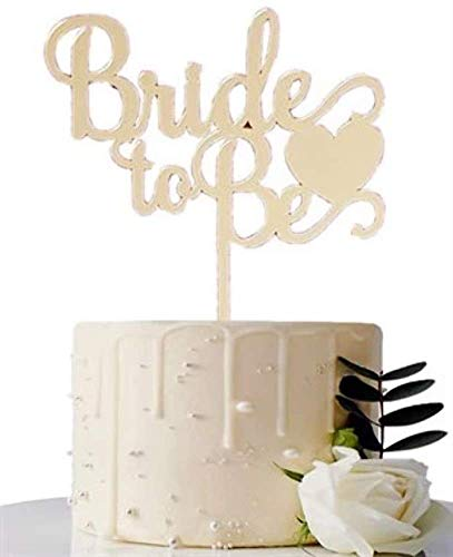 Bride to Be Gold Cake Topper, Glas