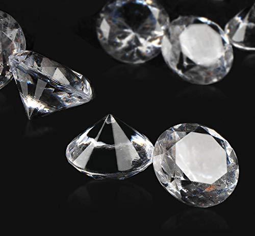 ABSOFINE Deko-Diamanten Farblos Diamantkristalle Transparent Kristall Dekosteine Tischdeko Diamanten Streudeko Hochzeit Dekoration (20mm-200Stk)